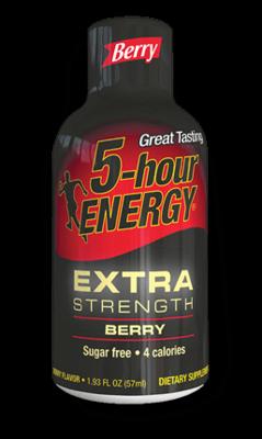 Energy Drink, 5 Hour Energy® Extra Strength Berry, 1.93 oz (2 Bottles)