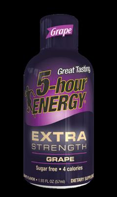Energy Drink, 5 Hour Energy® Extra Strength Grape, 1.93 oz (2 Bottles)