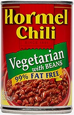 Canned Chili, Hormel® Vegetarian Chili with Beans (15 oz Can)