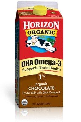 Dairy Milk, Horizon® Organic 1% Low Fat Chocolate Milk with DHA Omega-3 (½ Gallon Carton)