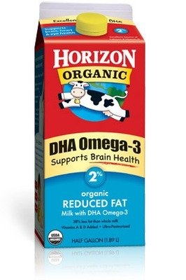 Dairy Milk, Horizon® Organic 2% Reduced Fat Milk with DHA Omega-3 (½ Gallon Carton)