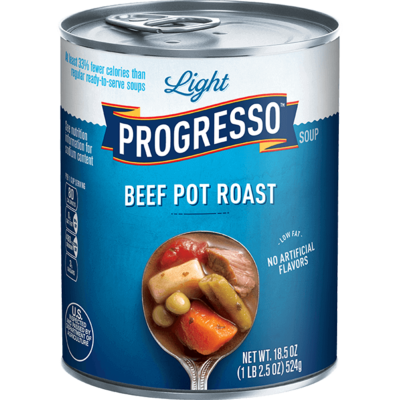 Canned Soup, Progresso® Light® Beef Pot Roast Soup (18.5 oz Can)
