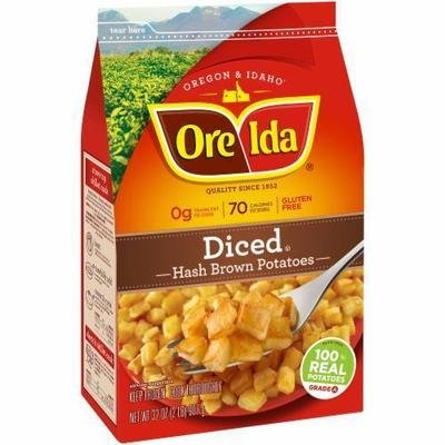 Frozen Potatoes, Ore-Ida® Diced Hash Browns (32 oz Bag)