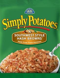 Frozen Potatoes, Simply Potatoes® Southwest Style Hash Browns (20 oz Bag)