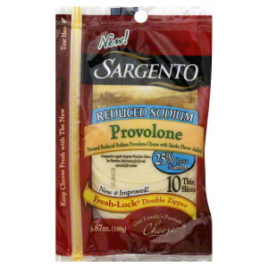 Cheese, Sargento® Provolone, Sliced Cheese, Natural, Reduced Sodium