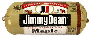Fresh Ground Sausage, Jimmy Dean® Premium Pork Maple Sausage (16 oz Tube)