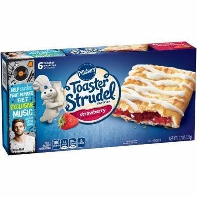 Strudel, Pillsbury® Strawberry Toaster Strudel (6 count, 11.7 oz Box)