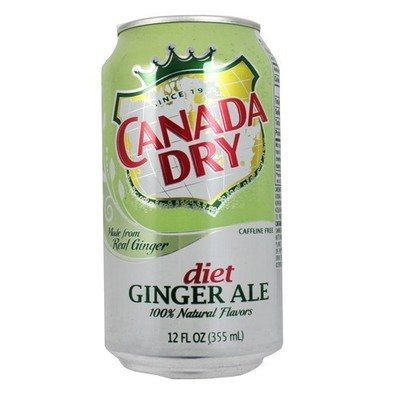 Soda, Canada Dry® Diet Ginger Ale ( 1 Single, 12 oz Can)