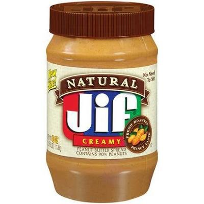 Peanut Butter, Jif® Natural Creamy Peanut Butter (28 oz Jar)