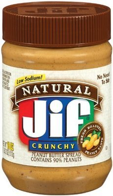 Peanut Butter, Jif® Natural Crunchy Peanut Butter (16 oz Jar)
