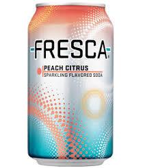 Soda, Fresca® Peach Soda (Single 12 oz Can)