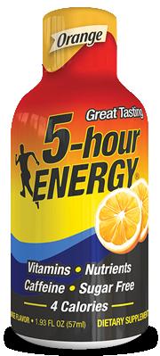 Energy Drink, 5 Hour Energy® Orange, 1.93 oz (2 Bottles)