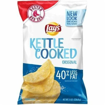 Potato Chips, Lay's® Kettle Cooked Reduced Fat Original Potato Chips (8 oz Bag)