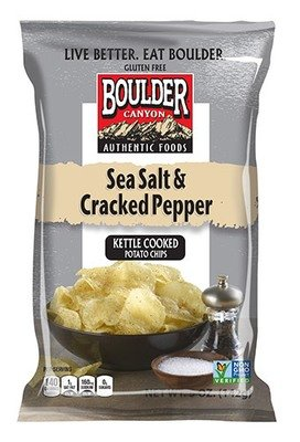 Potato Chips, Boulder Canyon™ Sea Salt & Cracked Pepper Potato Chips (6.5 oz Bag)