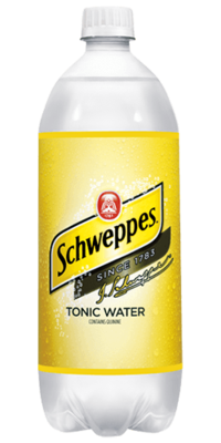 Tonic Water, Schweppes® Tonic Water (1 Liter Bottle)