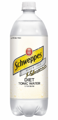 Tonic Water, Schweppes® Diet Tonic Water (1 Liter Bottle)