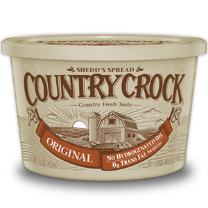 Butter, Country Crock® Original Buttery Spread (15 oz Tub)