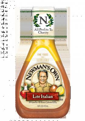 Salad Dressing, Newman's Own® LiteItalian Salad Dressing (16 oz Bottle)