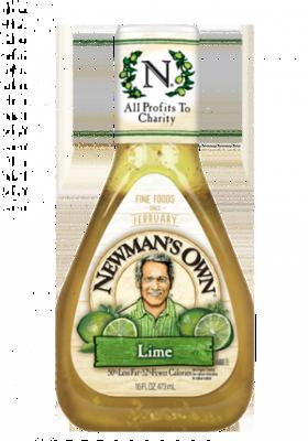Salad Dressing, Newman's Own® Lite Lime Vinaigrette Salad Dressing (16 oz Bottle)
