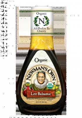 Salad Dressing, Newman's Own® Organic Lite Balsamic Vinaigrette Salad Dressing (16 oz Bottle)