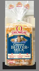Loaf Bread, Oroweat® Country Buttermilk® Bread (24 oz Bag)