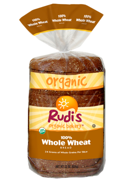 Loaf Bread, Rudi's® 100% Whole Wheat Bread (22 oz Bag)