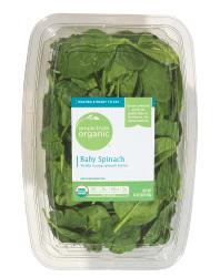 Fresh Salad Greens, Simple Truth Organic™ Baby Spinach (16 oz Tray)