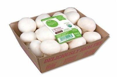 Fresh Mushrooms, Simple Truth Organic™ Whole White Mushrooms (16 oz Tray)
