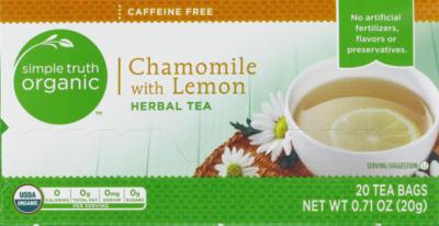 Tea, Simple Truth Organic™ Chamomile with Lemon (20 Bags, 1.4 oz Bags)