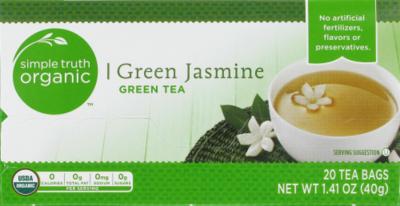 Tea, Simple Truth Organic™ Green Jasmine Tea (20 Bags, 1.41 oz Bags)