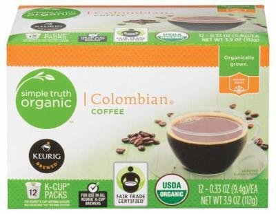 K Cup Coffee, Simple Truth™ Colombian K Cup Coffee (Box of 12 Single K Cups)