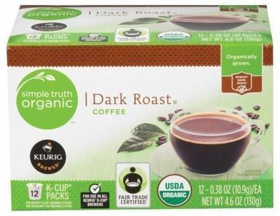 K Cup Coffee, Simple Truth™ Dark Roast K Cup Coffee (Box of 12 Single K Cups)