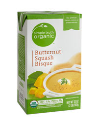Boxed Organic Soup, Simple Truth Organic™ Butternut Squash Tomato Bisque