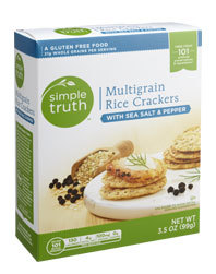 Crackers, Simple Truth™ Multigrain Rice Crackers with Sea Salt & Pepper (3.5 oz Box)
