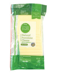 Cheese, Simple Truth Organic™ Sliced Provolone Cheese (6 oz Resealable Pouch)