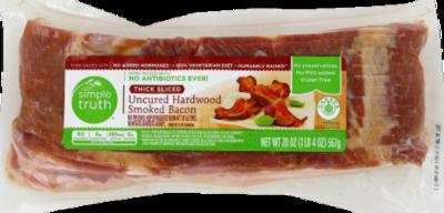 Fresh Bacon, Simple Truth™ Uncured Hardwood Smoked Bacon (16 oz Bag)