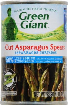 Canned Asparagus, Green Giant® Low Sodium Cut Asparagus Spears (14.5 oz Can)