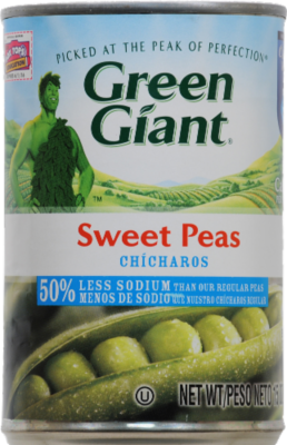 Canned Peas, Green Giant® Low Salt Sweet Peas (15 oz Can)