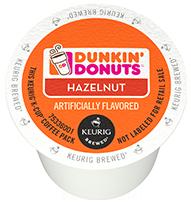 K Cup Coffee, Dunkin' Donuts® Hazelnut® K Cup Coffee (Single K Cup)