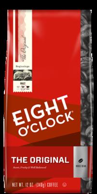 Bean Coffee, Eight O'Clock® The Original® Whole Bean Coffee (12 oz Bag)
