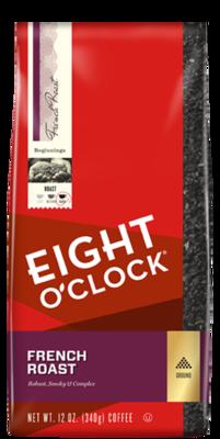 Ground Coffee, Eight O'Clock® French Roast Ground Coffee (12 oz Bag)