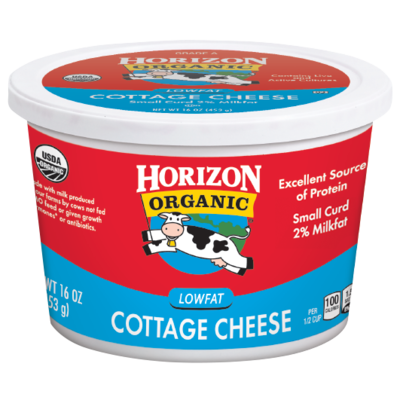 Cottage Cheese, Horizon® Organic Low Fat Cottage Cheese (16 oz Cup)