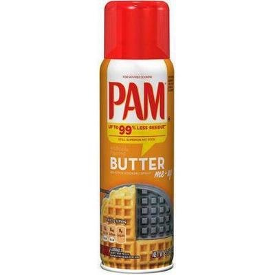 Cooking Spray, Pam® Cooking Oil Spray with Butter (5 oz Spray Can)