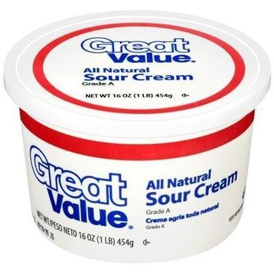Sour Cream, Great Value® Sour Cream (16 oz Cup)