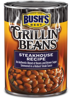 Canned Beans, Bush's® Grillin' Beans® Steakhouse Recipe Beans (22 oz Can)