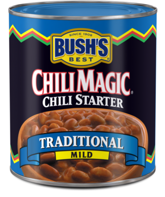 Canned Beans, Bush's® Traditional Mild Chili Magic Chili Starter (15.5 oz Can)