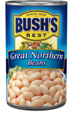 Canned Beans, Bush's® Great Northern Beans (15.8 oz Can)