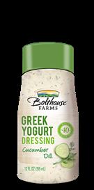 Salad Dressing, Bolthouse Farms® Cucumber Dill Greek Yogurt, 12 oz Bottle