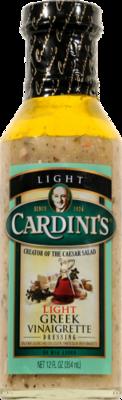 Salad Dressing, Cardini's® Light Greek Vinaigrette Salad Dressing (12 oz Bottle)