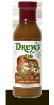 Salad Dressing, Drew's® Shiitake Ginger Dressing/Quick Marinade (12 oz Bottle)